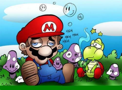 Por supuesto que los habitantes de ese mundo lo atacarían!!! Es por eso que llegue a la conclusión de que ¡Mario Bros es yonki!