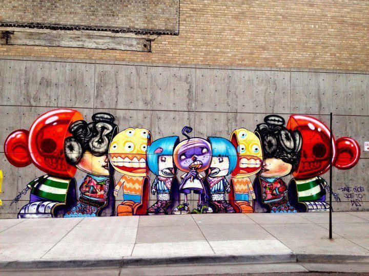 Arte urbano murales parte 3 soy un yonki for David choe mural