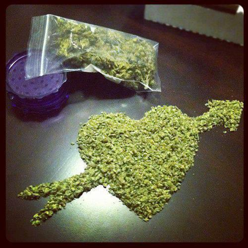 corazon de mariguana