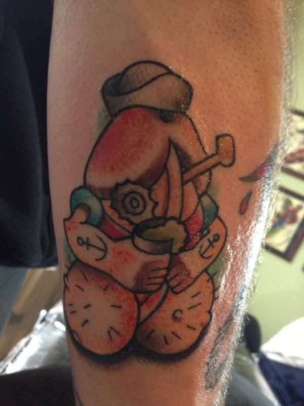 tatuaje de pene de popeye