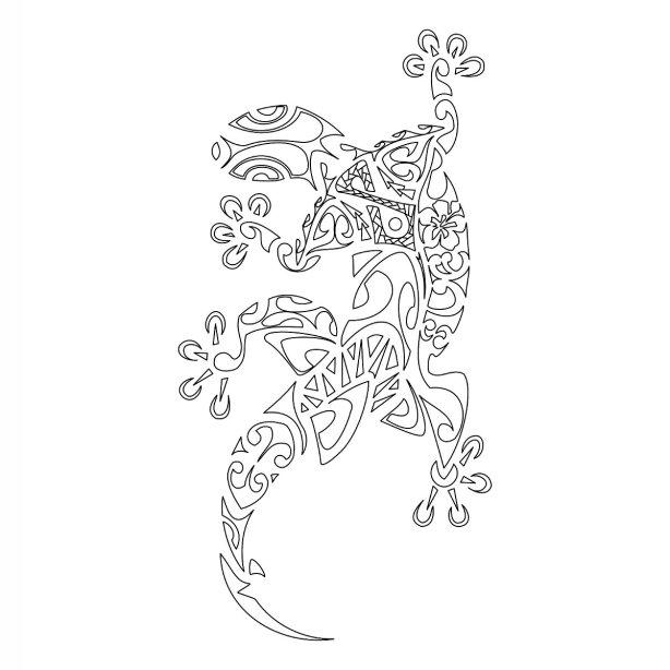 Polynesian-gecko-stencil