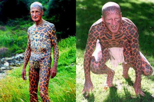 """Tom Leppard """"El hombre leopardo"""" 01"""