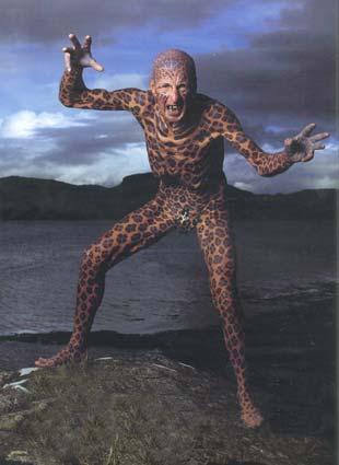 """Tom Leppard """"El hombre leopardo"""" 02"""