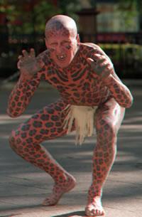 """Tom Leppard """"El hombre leopardo"""" 05"""