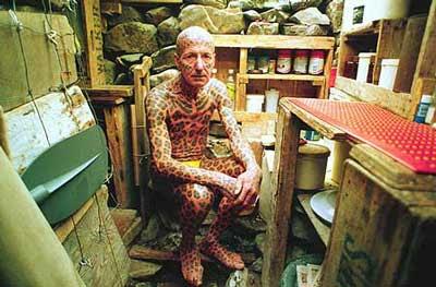 """Tom Leppard """"El hombre leopardo"""" 10"""